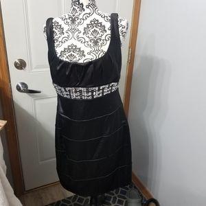 Jeweled BISOU BISOU size 14 cocktail black dress